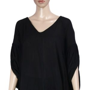 Free People Tops - Free People Daphne Tunic Wing Sleeve Oversized Top